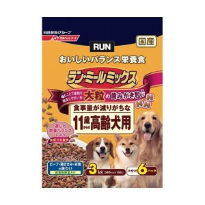 日清ペットフード ランミールミックス大粒11歳高齢犬用 3Kg 〔ペット用品〕|kagu-plaza