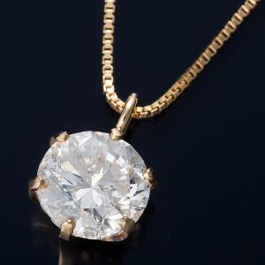 K18 0.5ctダイヤモンドペンダント/ネックレス ベネチアンチェーン(鑑別書付き)|kagu-plaza