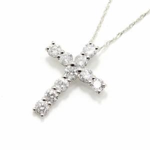 純プラチナ 1ct ダイヤモンド クロスペンダント〔代引不可〕|kagu-plaza
