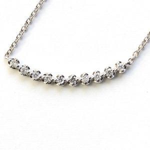純プラチナ ダイヤモンド ラインペンダント ネックレス〔代引不可〕|kagu-plaza