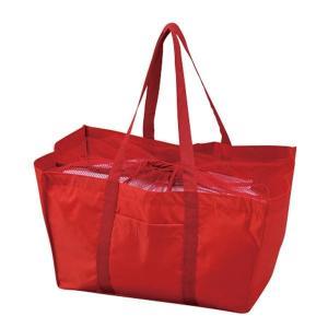 エコマイバッグ/買い物トートバッグ 〔レッド〕 レジカゴ対応 ポリエステル製〔代引不可〕|kagu-plaza