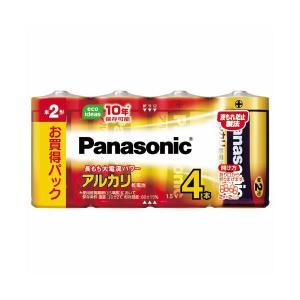 【商品名】 (まとめ) パナソニック アルカリ乾電池 単2形LR14XJ/4SW 1パック(4本) ...