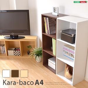 カラーボックスシリーズ【kara-bacoA4】3段A4サイズ kagu-plaza