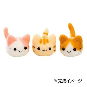 まるくて可愛い三つ子のニャンコが作れるキットです。 生産国:日本 商品サイズ:完成サイズ:高さ約5c...