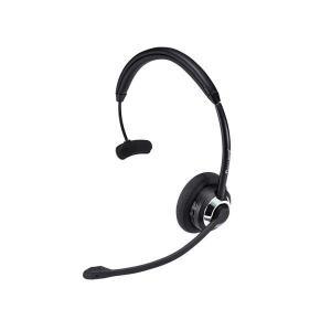 コールセンターなどに適した片耳オーバーヘッドタイプのBluetoothヘッドセット。長時間の通話・音...
