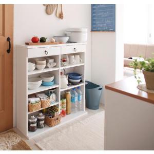 食器棚 棚 多目的棚 ラック キッチンボード ストッカー 引き出し コンパクト ミニ多目的棚 奥行24cmのスリム設計 薄型キッチン収納 幅90|kagu-refined