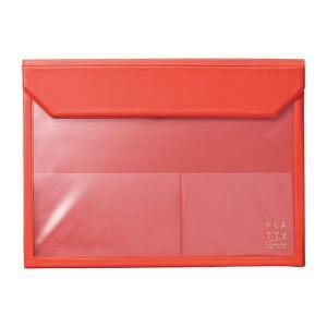 かさばらないバッグインバッグ フラッティ A4ヨコ 赤 5366