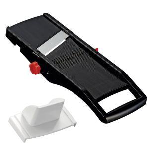 日本製スライサー 切り方3種類(スライス・千切り・ツマ切り)/厚さ調整可 安全ホルダー付き kagu-refined