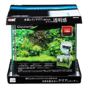 ジェックス グラステリアキューブ 300 水槽用品セット付き 〔ペット用品〕|kagu-refined
