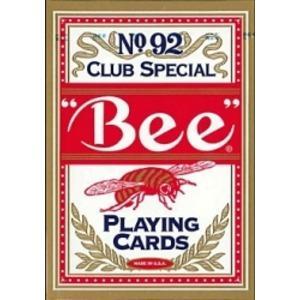 Bee ビー [ポーカーサイズ] No.92 Club Special 〔レッド ・ ブルー〕|kagu-refined
