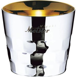 タンブラー/ビアマグ 〔オールドファッション〕 約直径85×75mm 日本製 ステンレス 箱入り 『Migaki Meister』 kagu-refined