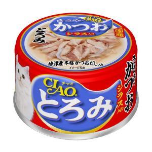 (まとめ)CIAO とろみ ささみ・かつお シラス入り 80g A-45〔×48セット〕〔ペット用品・猫用フード〕|kagu-refined