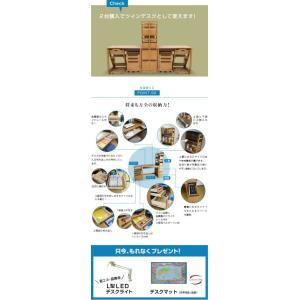 学習机 勉強机 ユニットデスク ヘンリー(机のみ)-ART (デスクマット 世界地図プレゼント)|kagu-try|02