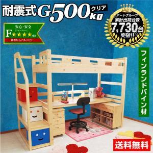 耐荷重500kg システムベッド デニム3(本体のみ)(デスクカーペットプレゼント)-ART|kagu-try
