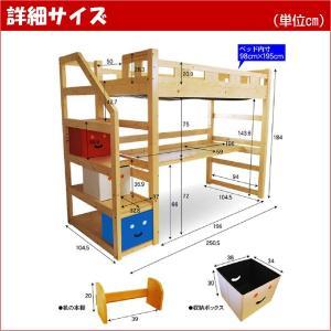 耐荷重500kg システムベッド デニム3(本体のみ)(デスクカーペットプレゼント)-ART|kagu-try|06