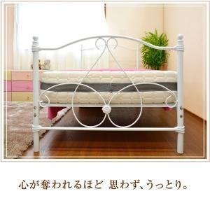 アイアンベッド 姫系ベッド シングルベッド エレガンス(ボンネルコイルマット付き 87924)-ART パイプベッド ベット お姫様 女の子|kagu-try|05