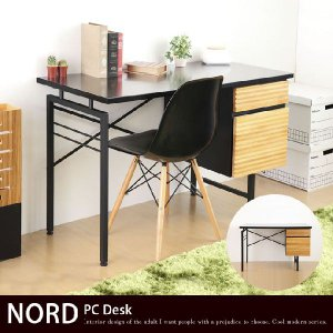 NORD ノルド デスク パソコンデスク 幅120cm テーブル 収納