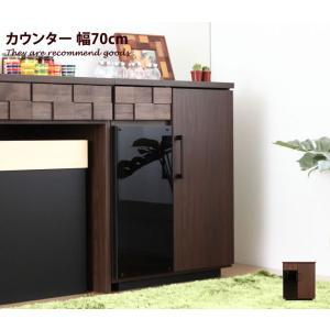 COLK コルク キッチン収納 幅70cm キッチンカウンター 天然木 収納 間仕切り 日本製 レトロ シック キャスター レンジ台 ワゴン 食器棚 テーブル kagu350