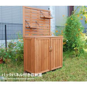 パネル付収納庫 物置 収納庫 木製 幅80cm 屋外 ベランダ|kagu350