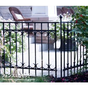 Park avenue fence set フェンス セット ガーデン 上品 シンプル 庭 高級感 仕切り ヨーロピアン おしゃれ kagu350