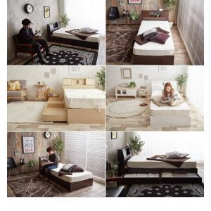 【シングル】【フレームのみ】 ベッド シングルベッド ベッドフレーム フレーム 収納 収納付き コンセント付き 大容量 ベッド下収納 照明付き 引き出し|kagu350|13