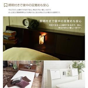 【シングル】【フレームのみ】 ベッド シングルベッド ベッドフレーム フレーム 収納 収納付き コンセント付き 大容量 ベッド下収納 照明付き 引き出し|kagu350|05