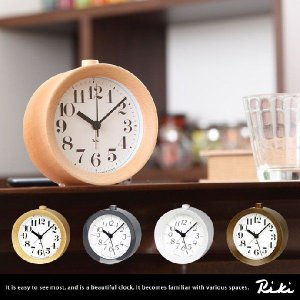 リキクロック リキ 渡辺力 RIKI ALARM 時計 プレゼント CLOCK アンティーク アラーム インテリア 子供 ウッド 置き時計 クロック|kagu350