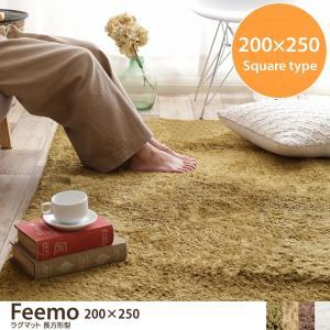 【200cm×250cm】 【長方形】 ラグマット Feemo フィーモ kagu350