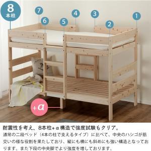 二段ベッド 特許申請中 オリジナル 国産 ひのき セパレート式 木製 子供用 マット ホワイトグレー 二段ベット 2段ベッド 日本製 アロマ効果 北欧|kagu|15