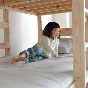 二段ベッド 特許申請中 オリジナル 国産 ひのき セパレート式 木製 子供用 マット ホワイトグレー 二段ベット 2段ベッド 日本製 アロマ効果 北欧|kagu|21