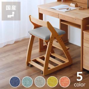 【杉工場】【レオ】 木製上下可動椅子(布座)学習チェア 学習椅子 学習イスの写真