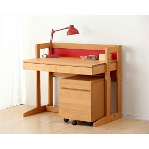 MUCMOC(ムックモック) 木の学習机 2点セット(デスク+ワゴン)94cm幅 学習デスク 勉強机 おしゃれ 男の子 女の子 子供|kagu