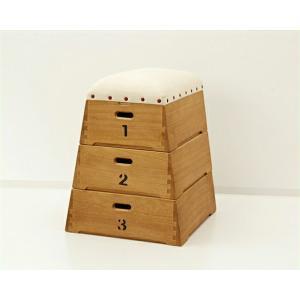 桐製3段跳び箱型おもちゃ箱 |kagu