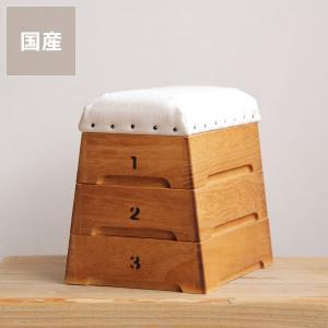ミニ跳び箱小物入れ・裁縫箱(3段) kagu