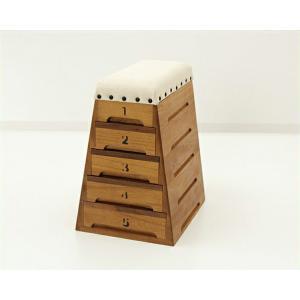 ミニ跳び箱小物入れ・裁縫箱(5段引出し-小) kagu
