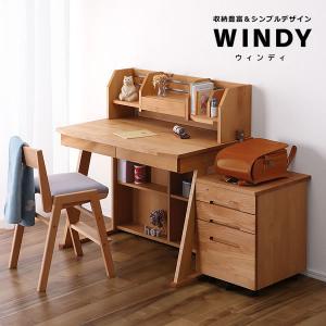 すっきりデザインの  学習机・学習デスク 3点セット  100cm幅(デスク+ロー上棚+ワゴン)  WINDY(ウィンディ)デスクセット 堀田木工所|kagu