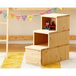 コンパクトで快適に使える 家具職人が作るひのきの階段チェスト(3段)|kagu