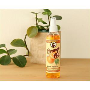 汚れを落とし、艶を与えて乾燥を防ぐ  天然オレンジオイル木製品用クリーナー