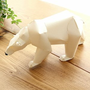 TOP TO TAIL(トップトゥテール)  シロクマ(白熊)  gu-pa(グーパ) かみの工作所 カミノコウサクショ 福永紙工|kagu
