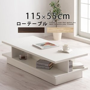 座卓 テーブル 約 幅115 奥行55cm 高さ30cm 木製 四角形 ローテーブル リビングテーブ...