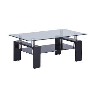 ガラステーブル センターテーブル リビング 黒|kaguch