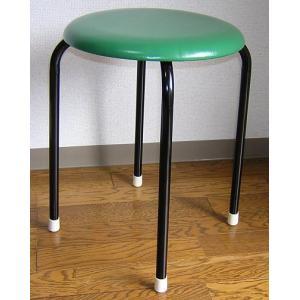 丸いす・スツール(緑)10脚セット|kaguch