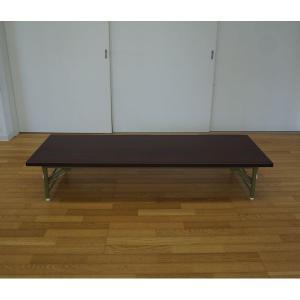 折りたたみ式 会議テーブル 座卓ワイドタイプ ロータイプ 180x60cm 幅180 奥行60 完成品 組立不要|kaguch