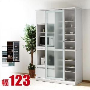 完成品 日本製 これ1台でレンジも食器も調理器具も!一台集約ガラス引き戸レンジボード レンジャー 幅123cm|kagucoco