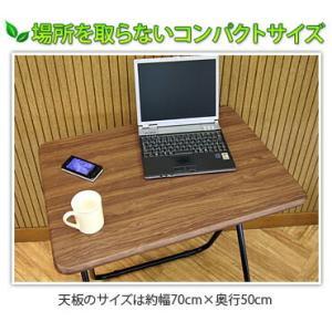 折りたたみテーブル チェア 2点セット フォールディング 幅70cm|kagudoki|03