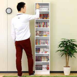 本棚 幅37.5cm スリムラック 事務用 本棚 CDラック すき間 スリム|kagudoki|03