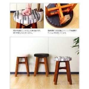 スツール 天然木 おしゃれ 木製 スツール 椅子 アンティーク調|kagudoki|04
