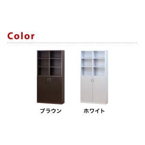 本棚 A4書棚 扉付き本棚 9018 2ドア 幅90cm 大容量 幅90 高さ180|kagudoki|07
