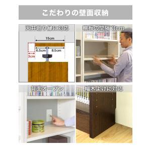本棚 耐震本棚 突っ張り 転倒防止 壁面収納 薄型 幅60 奥行26|kagudoki|14