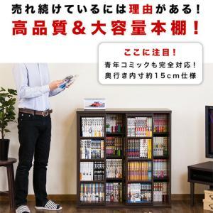 本棚 奥深 スライド書棚 幅90  ダブルスライド|kagudoki|03
